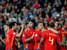 Rodrigo jugó ante Suiza y eso, creen en el Valencia, agravó su dolencia en el aductor. EFE