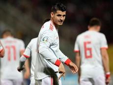 Alvaro Morata bagged both goals as Spain overcame Malta. EFE