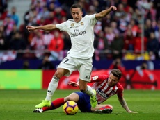 Lucas Vazquez (L) will definitely miss the trip to Mallorca. EFE/Archivo