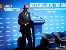 Jordi Cardoner no valoró los posibles fichajes del Barcelona. EFE