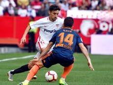 Gayà llegó a los 150 partidos en El Alcoraz. EFE