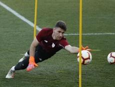 Unai Simon é melhor goleiro do Espanhol. EFE/Archivo