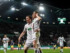 El Augsburg ha ganado a un Eintracht con la cabeza puesta en Europa. EFE/Archivo