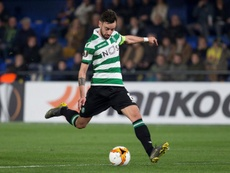 The Sporting coach says Bruno Fernandes was not protected by the referee. EFE/Archivo
