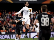 Parejo took the mic at Mestalla. EFE