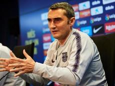 Valverde analizó el posible título liguero del Barcelona. EFE