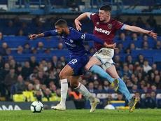 El Chelsea no se olvidará de Declan Rice tan fácilmente. EFE