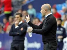 El técnico ya rescató al Levante, pero esta vez las sensaciones son peores. EFE