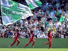 El Sevilla empató en el segundo tiempo. EFE