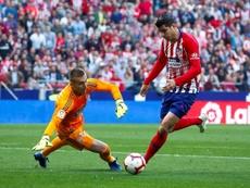 En el Atlético se preparan para medirse al Atlético San Luis, su hermano en México. EFE