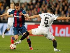 El Levante jugará sin público por primera vez en Mestalla. EFE