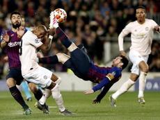 Di Santo alabó a Messi. EFE