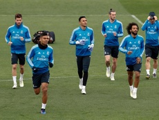 Le groupe du Real Madrid pour affronter l'Athletic Bilbao. EFE