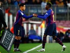Coutinho devrait jouer la finale, pas Dembélé. EFE