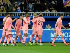 O Barcelona venceu o Alavés e está próximo do título. EFE