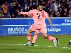 Suárez sobe ao pódio dos melhores marcadores da história do Barcelona. EFE