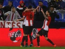 El Athletic se llevó la victoria ante el Leganés por la mínima. EFE