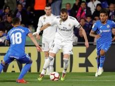 Benzema se quedó sin marcar en Getafe. EFE