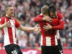 Beñat felicitó al Athletic por la Supercopa. EFE
