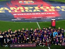 Les champions des grandes ligues, selon la décison de la Ligue Belge. AFP