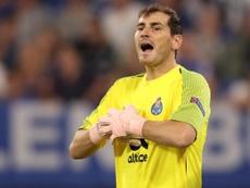 Iker Casillas a répondu aux questions de jeunes gardiens de but. EFE/Archive