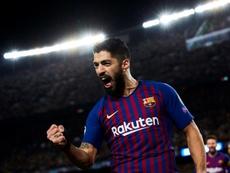 Luis Suárez habló sobre el fichaje de un delantero centro. EFE