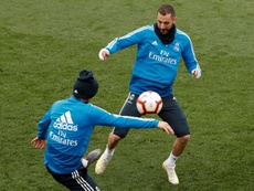 Benzema returns to group training, without Ramos. EFE