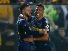 Tévez seguirá escalando en la lista de goleadores históricos de Boca. EFE