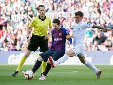 El Getafe cayó en el Camp  Nou. EFE