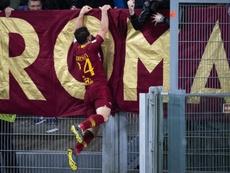 El jugador del Roma Alessandro Florenzi celebra su gol ante el Juventus en el Olímpico de Roma EFE/EPA
