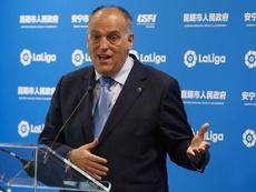 Javier Tebas quiere una alianza con la Superliga China. EFE/Archivo