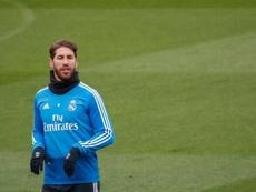 Ramos no entrenó junto a sus compañeros. EFE/Archivo
