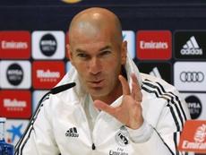 Zidane volvió a comparecer ante los medios. EFE