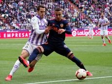 Rodrigo confía en que el Valencia se lleve los tres puntos del Villamarín. EFE