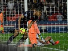 Mbappé hizo dos goles al Dijon. EFE/EPA