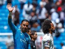 Keylor Navas se despidió del Bernabéu. EFE