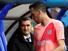 Ernesto Valverde a analysé l'état des blessés. EFE