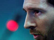 Los campeones señalan a Messi. EFE