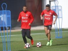 Arturo Vidal y Alexis Sánchez, confinados. EFE