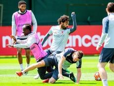 Mané et Milner, disponibles pour la Ligue des Champions. EFE