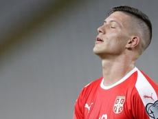 Serbia se jugaba la Eurocopa... y Jovic no jugó ni un solo minuto. EFE
