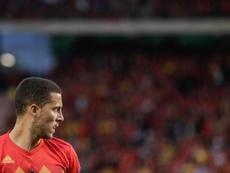 Roberto Martínez a fait l'éloge d'Hazard. AFP