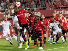 El Albacete se sintió perjudicado por el arbitraje en Son Moix. EFE