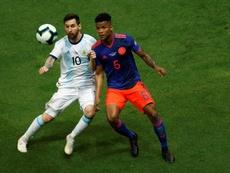 Wilmar Barrios elogió el trabajo del equipo ante Argentina. EFE