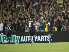 Jiménez scored two in Mexico's 7-0 win. EFE