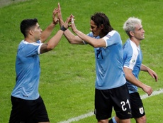 A Seleção Uruguaia derrotou o Chile por 1-0 no Rio de Janeiro. EFE