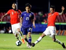 Les chiffres des débuts de Kubo en Copa América. EFE