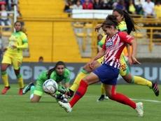 Carla Bautisa à l'Atlético Madrid. EFE