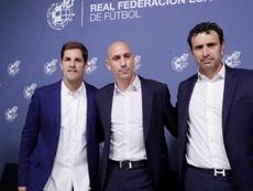 Rubiales sacó pecho del regreso de Luis Enrique. EFE