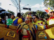 Aficionados colombianos denunciaron el engaño de la organización. EFE
